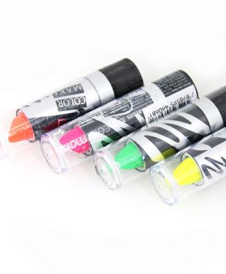 maquiagem artistica color make batom fluor