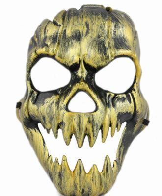 mascara caveira dourada