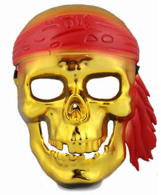 mascara pirata dourada