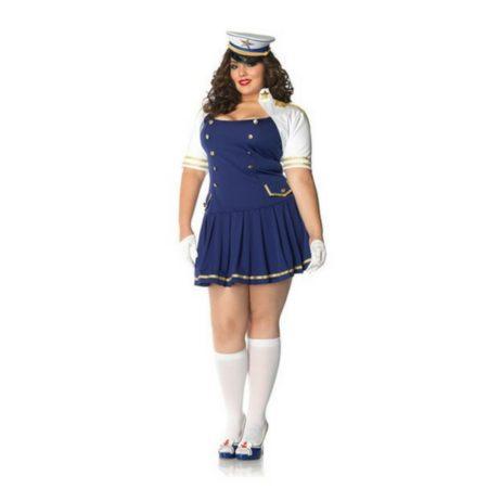 8652b7bcae Fantasia Plus Size Marinheira Elegance - Aluguel de fantasias online!